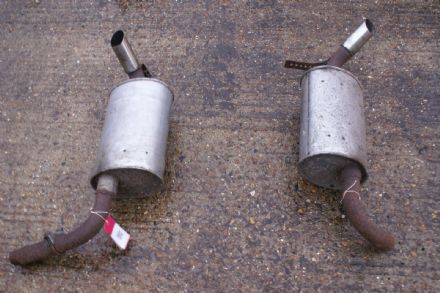 1974-1979 Corvette C3 Rear Mufflers Pair, Used Poor